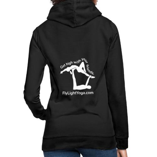 White: Get high with your friends - AcroYoga - Women's Hoodie