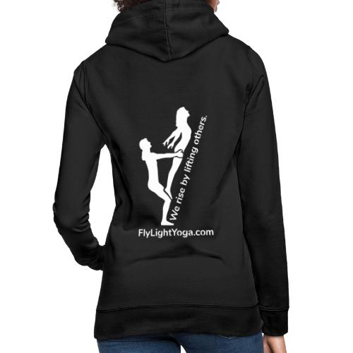 White: We Rise By Lifting Others - AcroYoga - Women's Hoodie