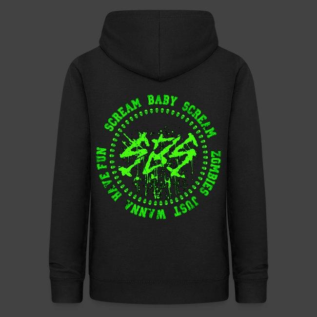SBS Splatter Green Logo with Varsity Logo on Back