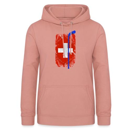 Schweizer Flagge Hockey - Frauen Hoodie