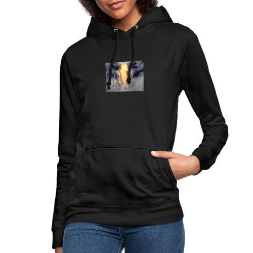 llamas gemelas - Sudadera con capucha para mujer