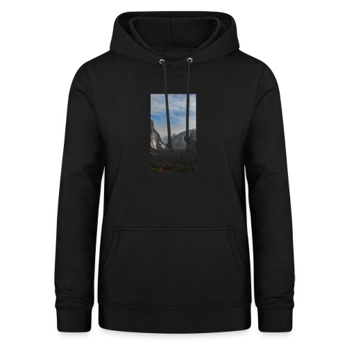 Mountain with trees - Frauen Hoodie