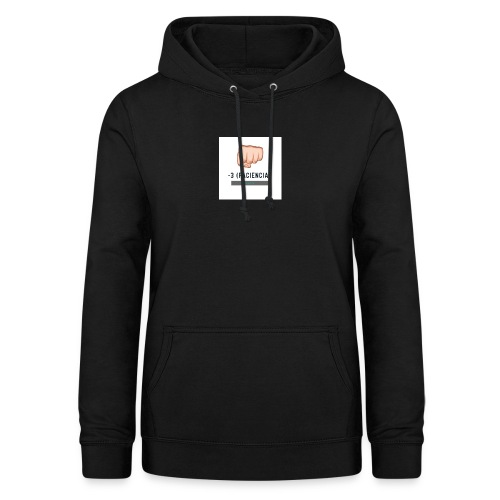 paciencia puño - Sudadera con capucha para mujer