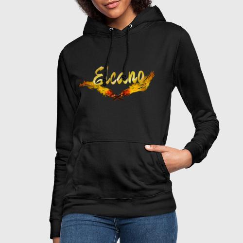 ELCANO Schriftzug mit Fackel - Frauen Hoodie