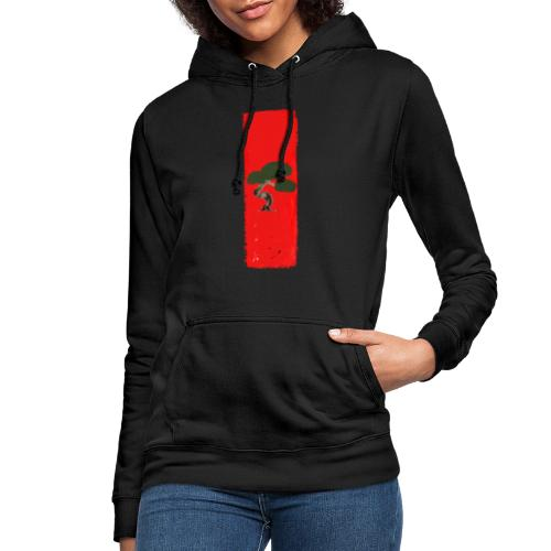 bonsai red scene - Frauen Hoodie