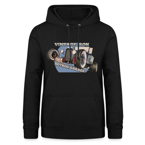 hot rod garage | vintage iron - Frauen Hoodie