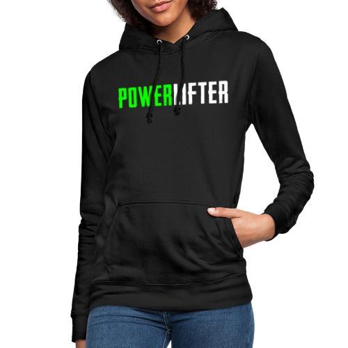 POWERLIFTER - weiß grün - Frauen Hoodie