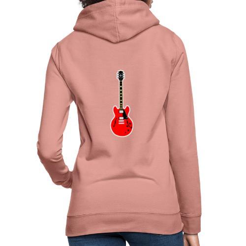 Guitare dos / Vully Blues classique poitrine - Frauen Hoodie