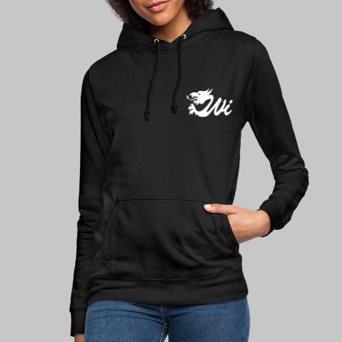 Wales Interactive Logo Dragon White - Women's Hoodie