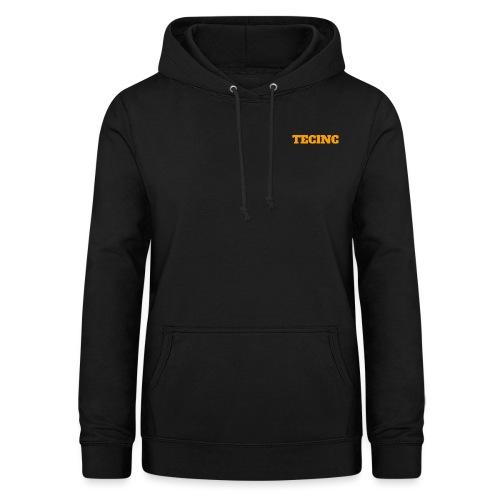 TecInc logo (Orange) - Dame hoodie