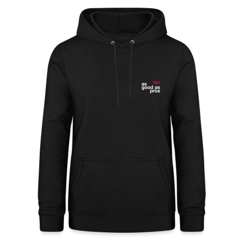 As Good As Pros Red and White - Women's Hoodie