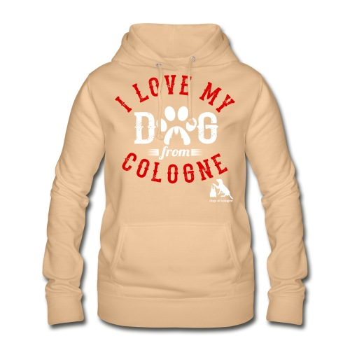 I love my dog from cologne! - Frauen Hoodie