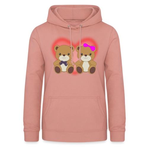 Orsetti con cuore - Felpa con cappuccio da donna