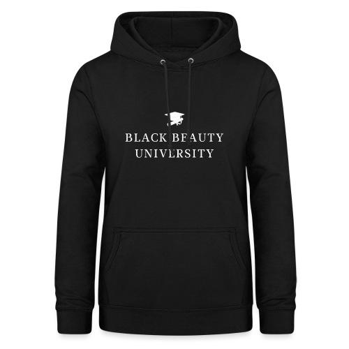 BLACK BEAUTY UNIVERSITY LOGO BLANC - Sweat à capuche Femme