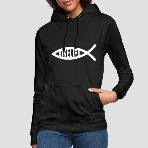 Bikelife in fish white - Luvtröja dam