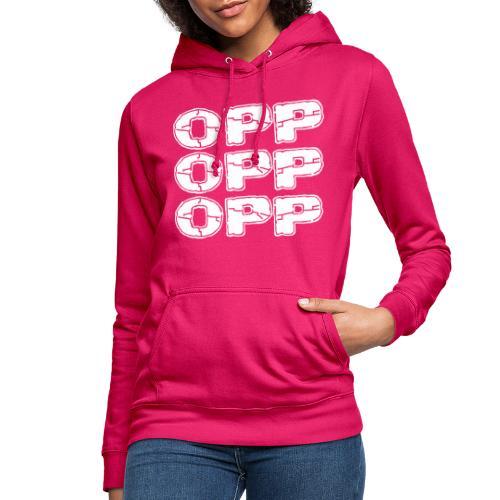 OPP Logo White - Naisten huppari