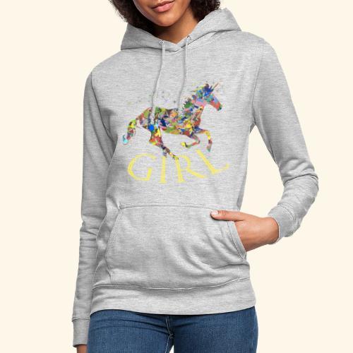 unicorn girl T-shirt - Felpa con cappuccio da donna