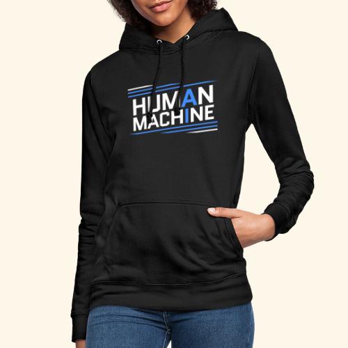 Human Machine Umanoide Robot Intelligenza AI - Felpa con cappuccio da donna