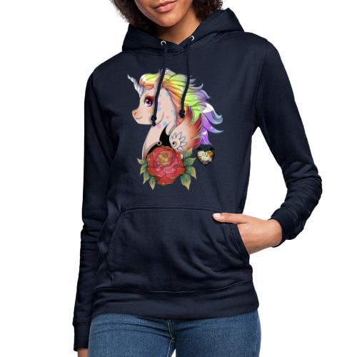 licorne kawaii - Sweat à capuche Femme