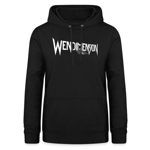 wendimension logo white - Naisten huppari