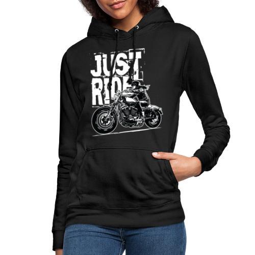Biker Girl White - Women's Hoodie