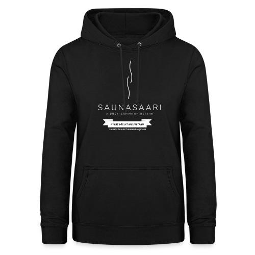 Saunasaari - musta - Naisten huppari