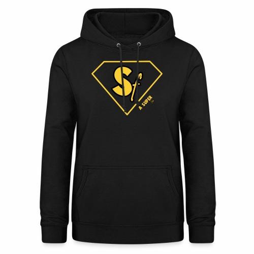 Logótipo A Super fan - Sudadera con capucha para mujer