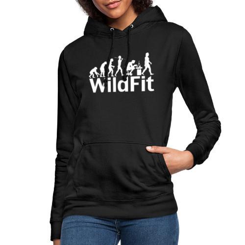 WildFit Logo Evolution Weiß - Frauen Hoodie