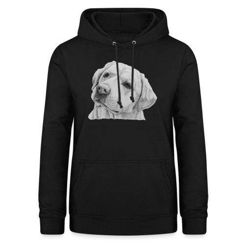 labrador retriever yellow - head - Dame hoodie