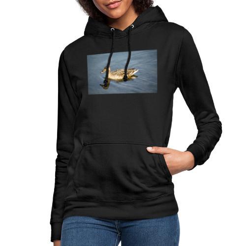 Ente im Wasser - Frauen Hoodie