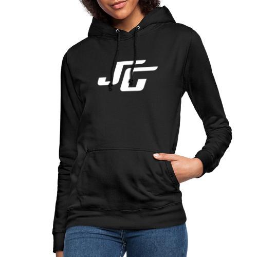 JG Logo weiss - Frauen Hoodie