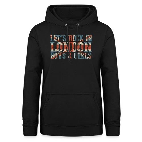 LET'S ROCK IN LONDON - Felpa con cappuccio da donna