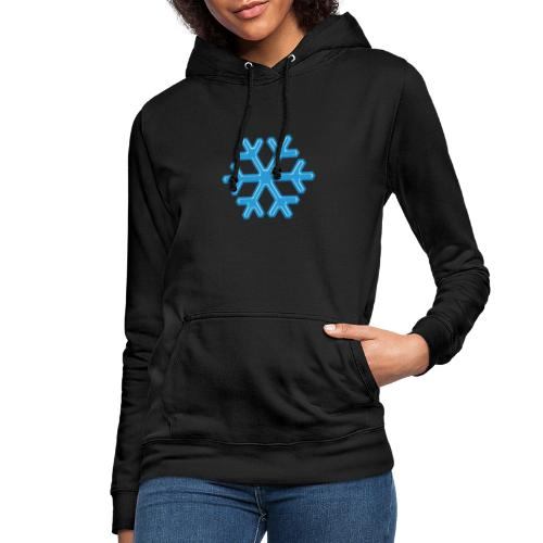 Snowflake - Felpa con cappuccio da donna