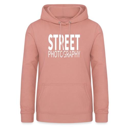 Street Photography T Shirt - Felpa con cappuccio da donna
