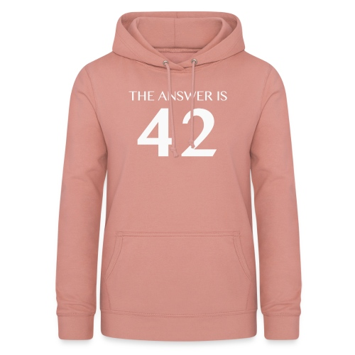 The Answer is 42 White - Women's Hoodie