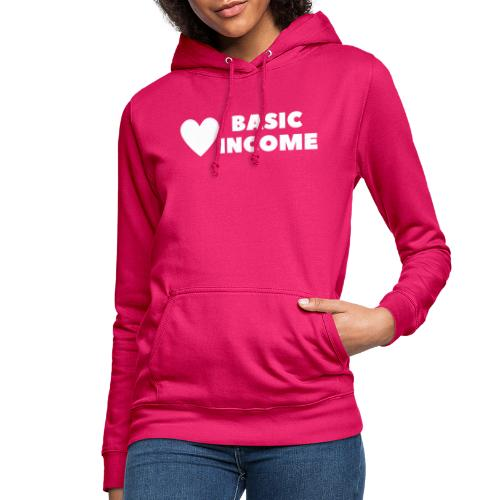 basic income white trans - Vrouwen hoodie