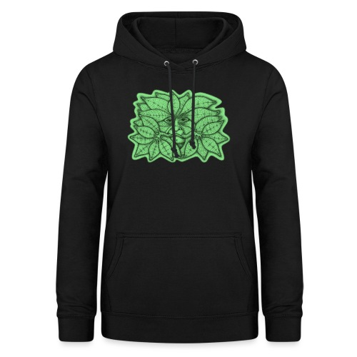 Green Man for Pagan Global Warming/Climate Change - Women's Hoodie