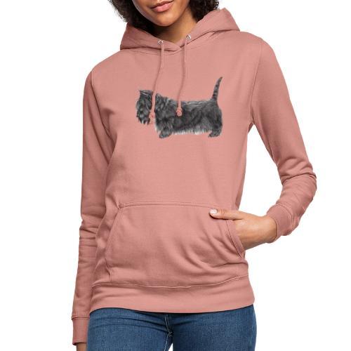 skotsk terrier ub - Dame hoodie