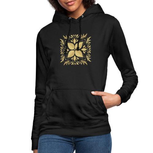 Golden Flower - Sudadera con capucha para mujer