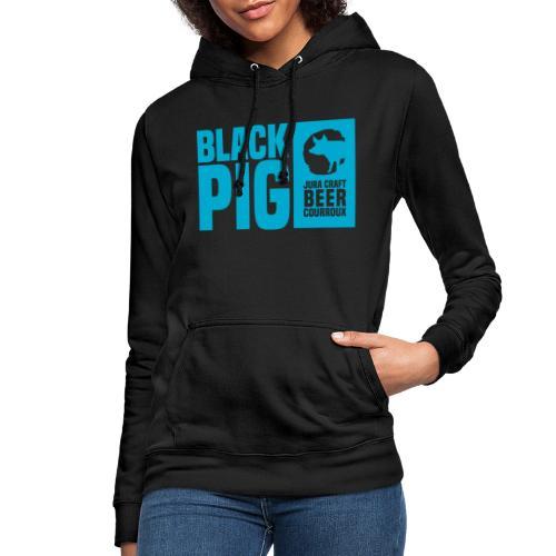 BlackPig Horizontal Bleu - Sweat à capuche Femme