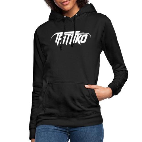 Trittiko Logo Weiss - Frauen Hoodie