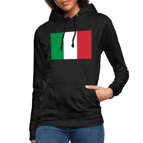 2000px Flag of Italy svg - Felpa con cappuccio da donna