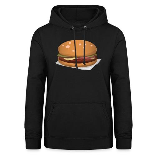 hamburger-576419 - Felpa con cappuccio da donna