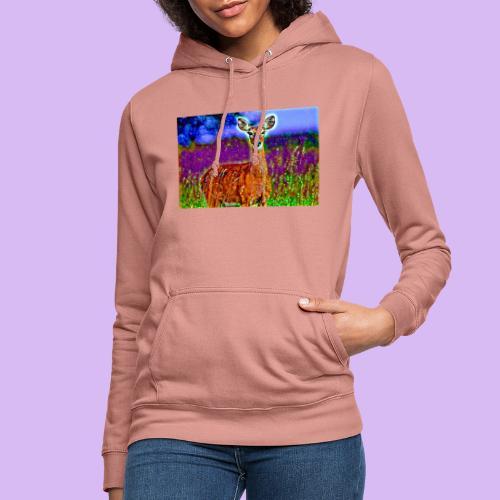 Cerbiatto con magici effetti - Felpa con cappuccio da donna