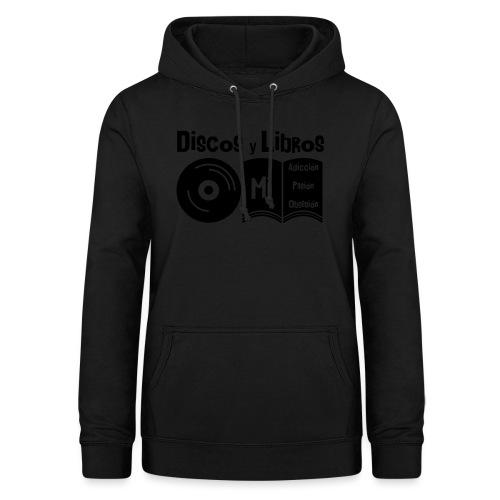 Discos y Libros - Sudadera con capucha para mujer