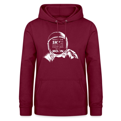 Astronaut - Footprints on the Moon - Frauen Hoodie