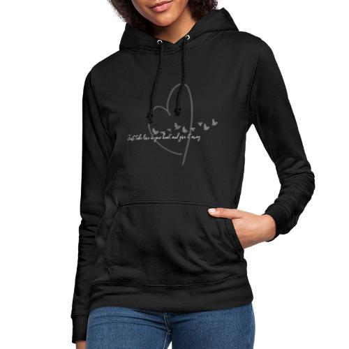 Love - Sudadera con capucha para mujer