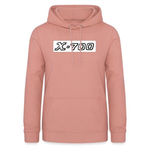 Minolta X-700 White - Felpa con cappuccio da donna