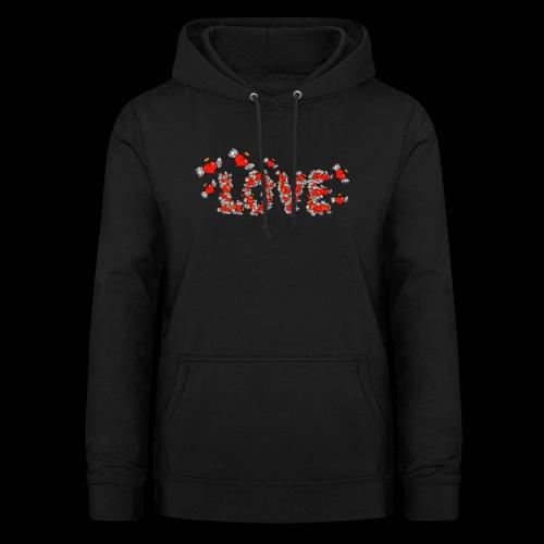 Flying Hearts LOVE - Dame hoodie