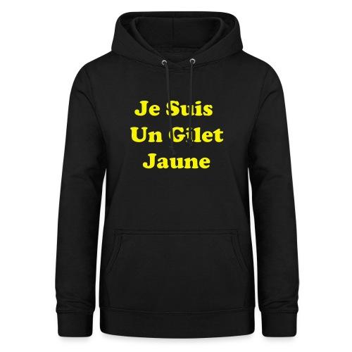 Gilet Jaune - Sweat à capuche Femme
